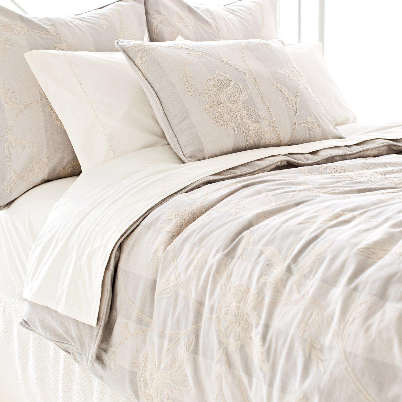 Pine Cone Hill Palma Crewel Duvet Cover Bed, Duvet