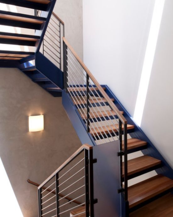 Minimalist Handrail Designs That Make The Staircase Stand Out Minimalist Home Design Modern Stairs Stair Railing Design Modern Stair Railing