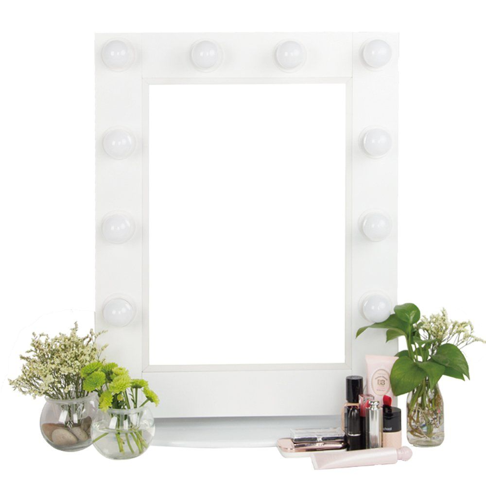 SSELF Hollywood Lighted Makeup Mirror Vanity Mirror With Lights (White)