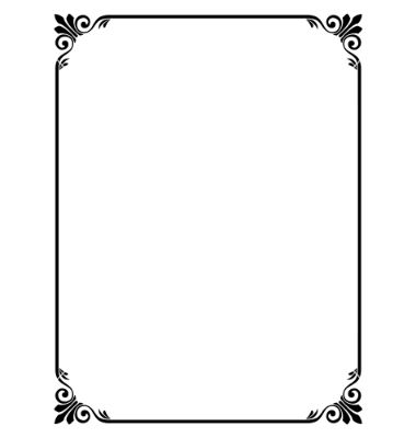Simple ornamental decorative frame vector 631376 - by 100ker on - free page border templates for microsoft word