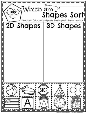 Shapes Worksheets | Classroom | Pinterest | Kind