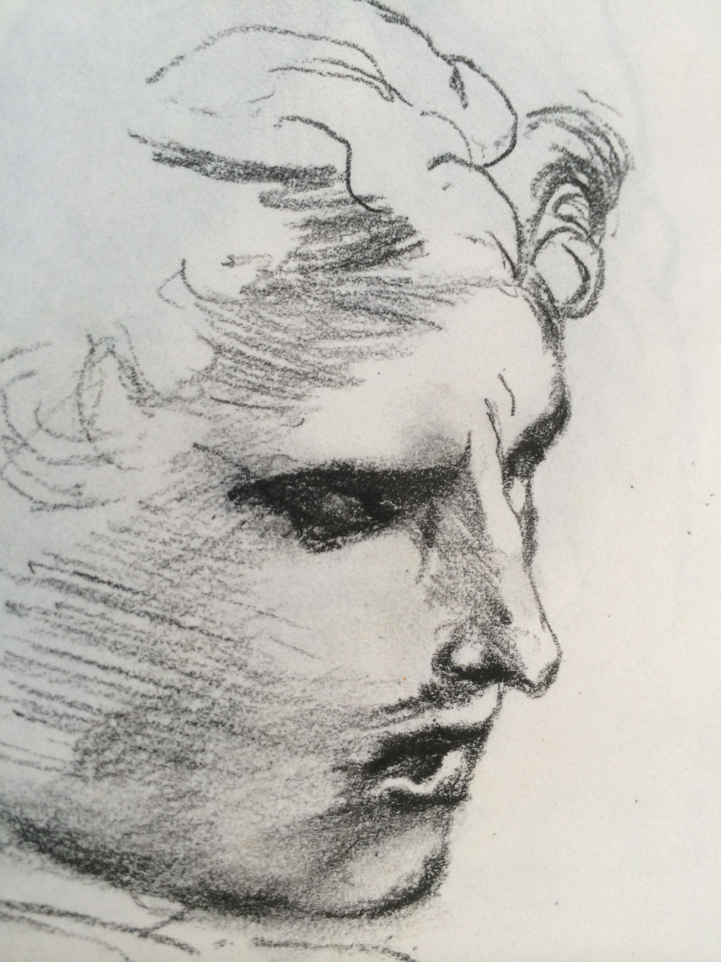 After Raphael Sketch Study Of An Old Master Drawing