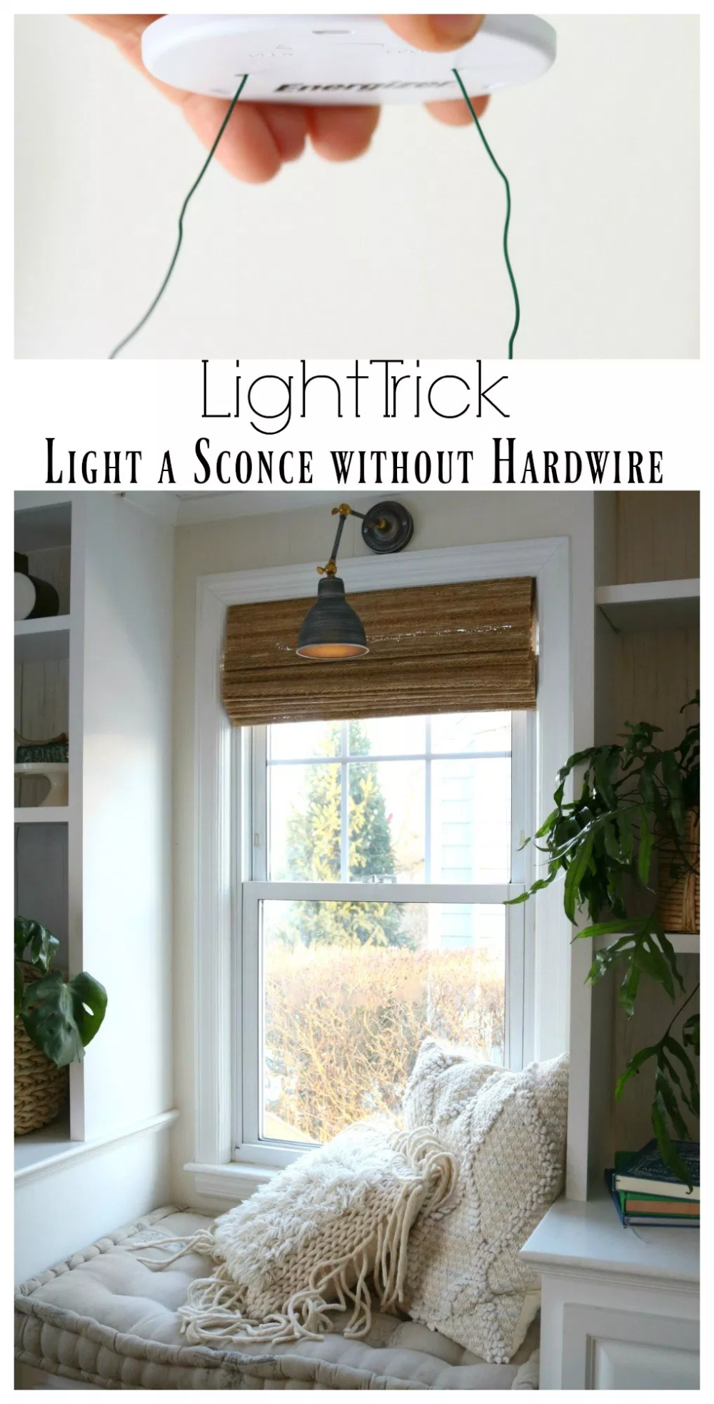 Diy Sconces To Have Light Without Power Magic Light Trick Nesting With Grace In 2020 Diy Sconces Diy Sconce Light Home Decor Accessories