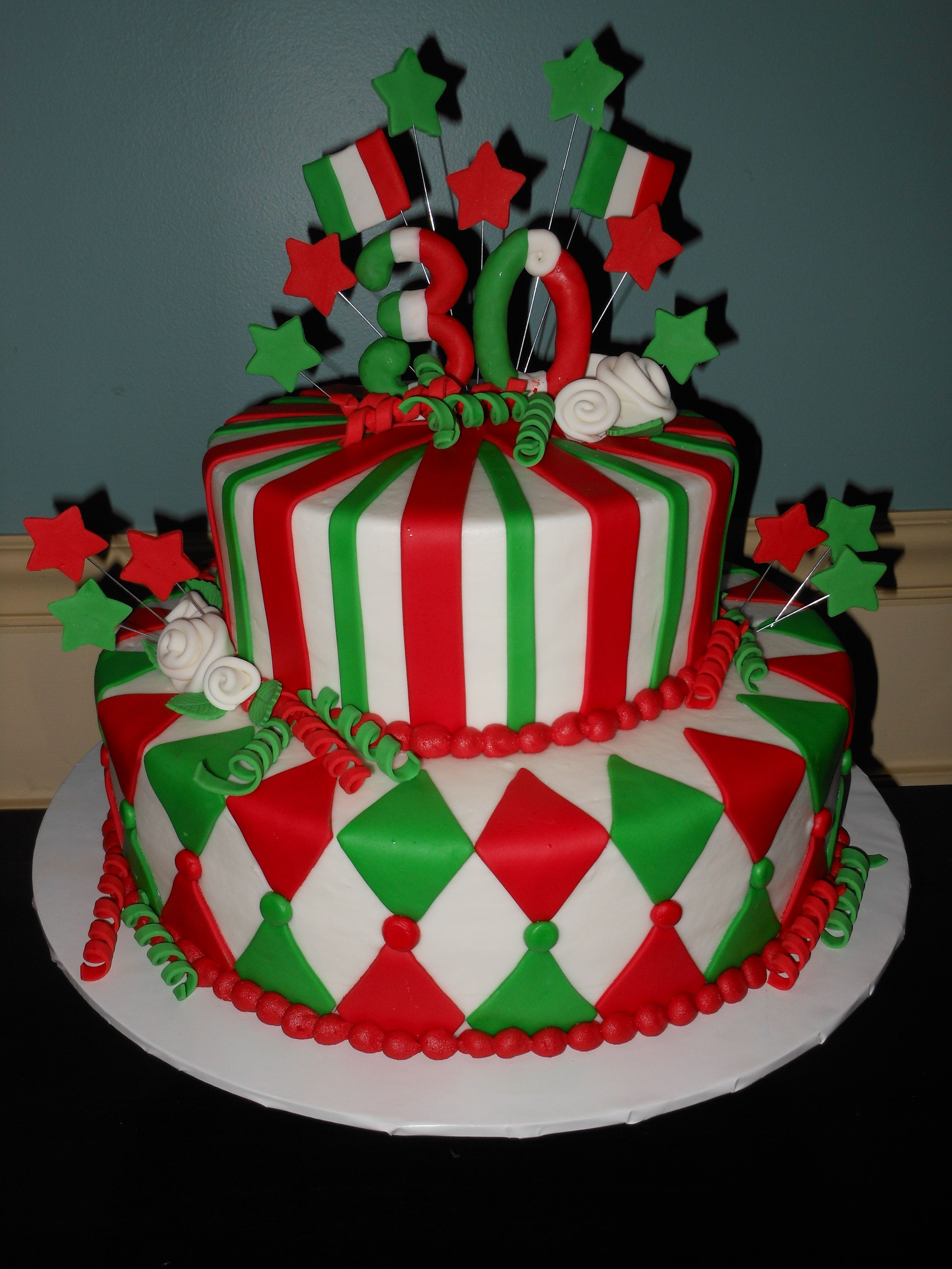Cake Design Italia Facebook : Italian Flag Cake My Cakes Pinterest Italy ...