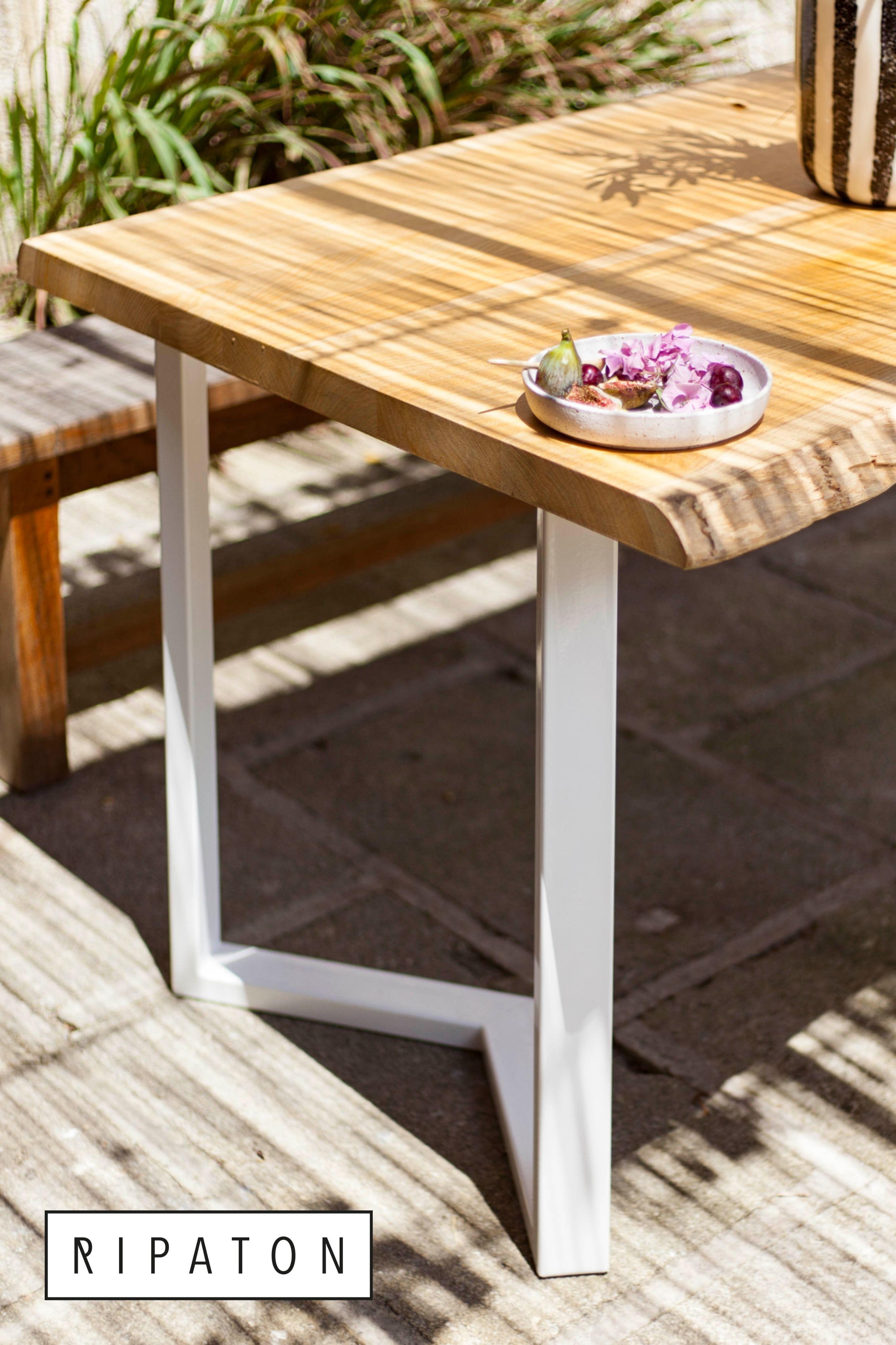 pied table acier