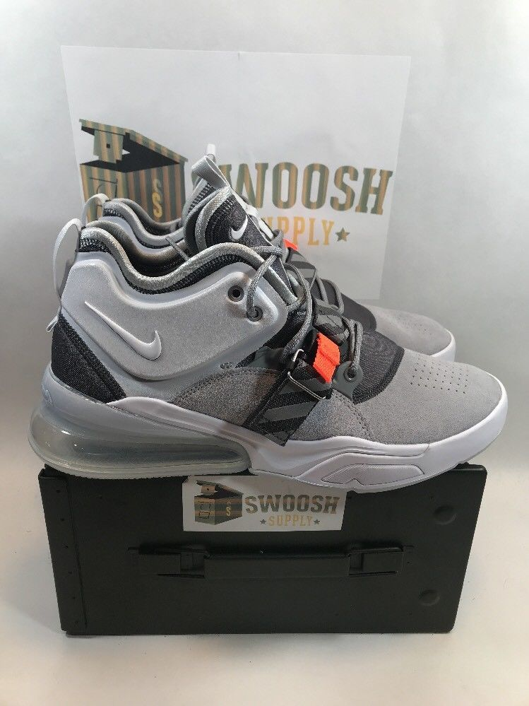Nike Air Force 270 Wolf Grey AH6772-002 Men's Size 12 New #Nike #