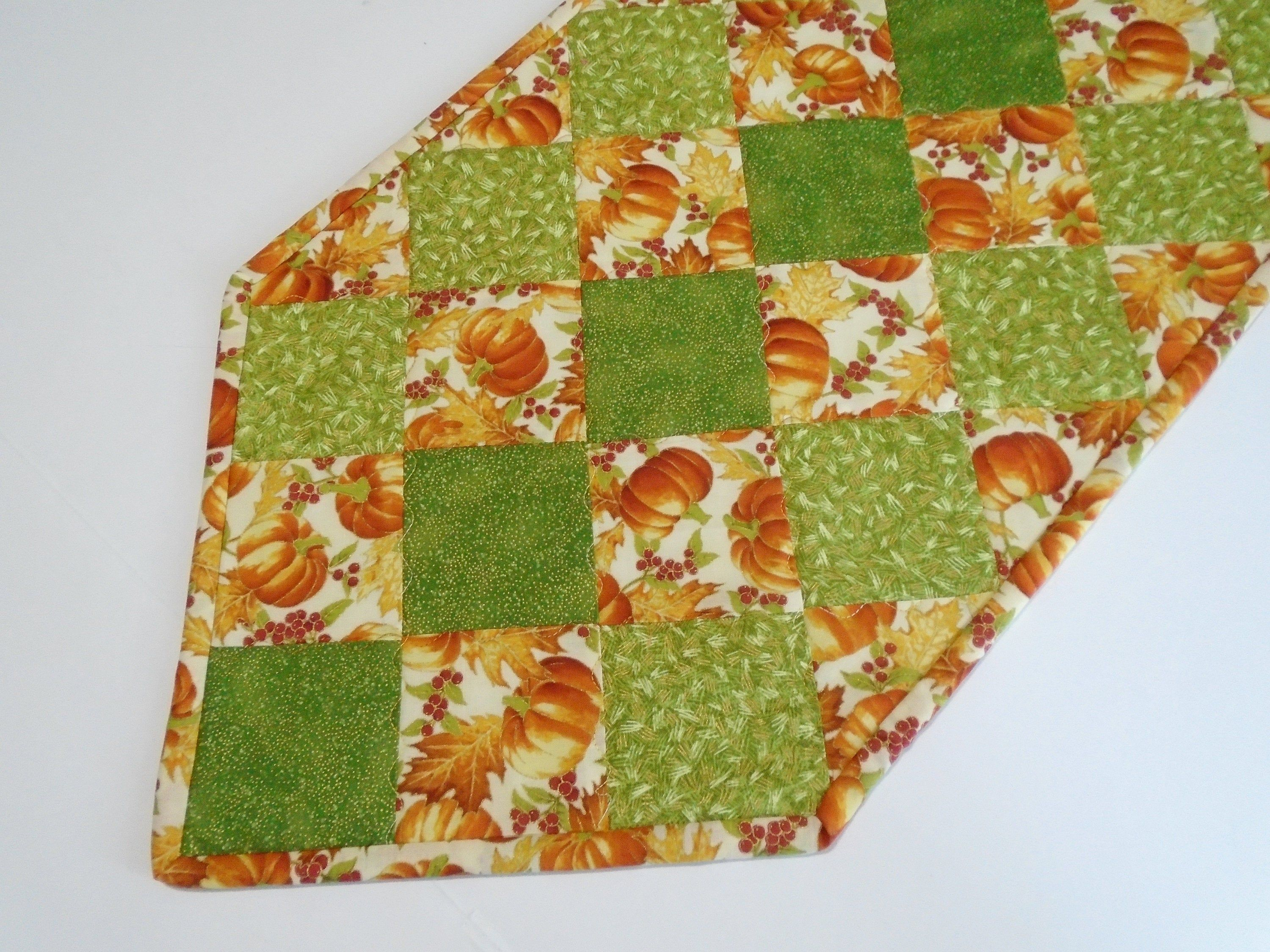 Fall Quilted Table Runner Autumn Fall Table Runner Pumpkin Etsy Quilted Table Runner Fall Table Runners Fall Quilts