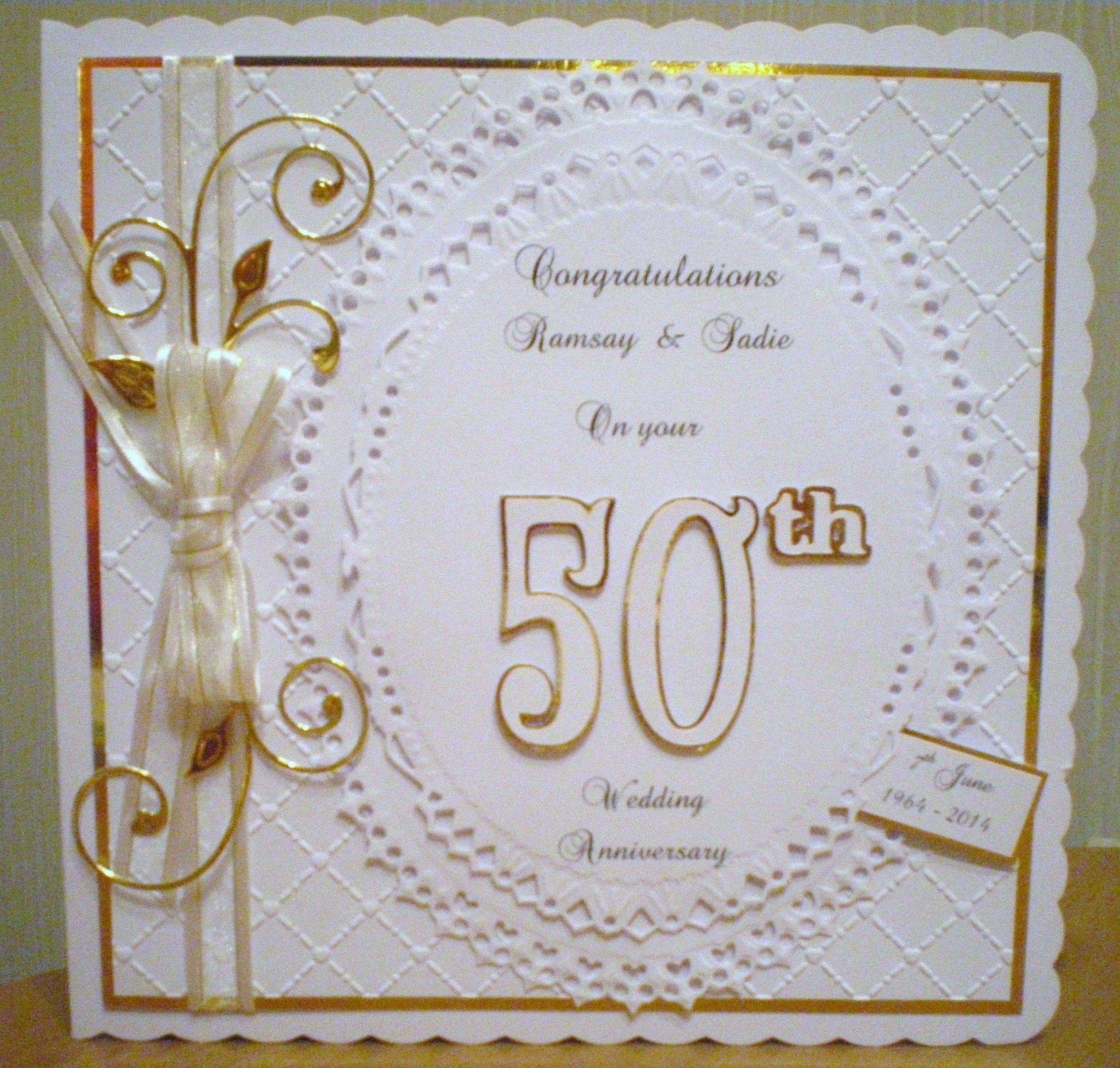 handmade wedding cards ireland%0A Golden Wedding Anniversary
