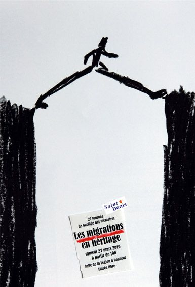 Sébastien Courtois / Valérie Debure / Isabelle Jégo / Alex Jordan Nous Travaillons Ensemble Ranska / France Muuttoliikkeen perinnejuhla A Memory Trail for Migrations