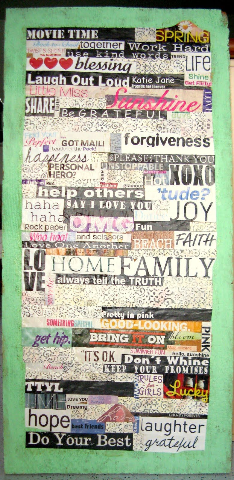 Make a collage by cutting out words phrases or pictures from make a collage by cutting out words phrases or pictures from magazines and then publicscrutiny Choice Image