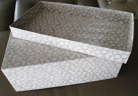 tuto pour recouvrir une boite en carton papier diy paper craft papier pinterest boite. Black Bedroom Furniture Sets. Home Design Ideas
