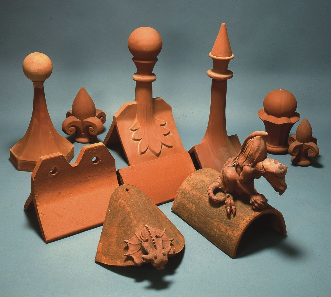 Selection Of Handmade Clay Roof Finials Finials Focal