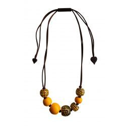 City Beads Yellow Necklace