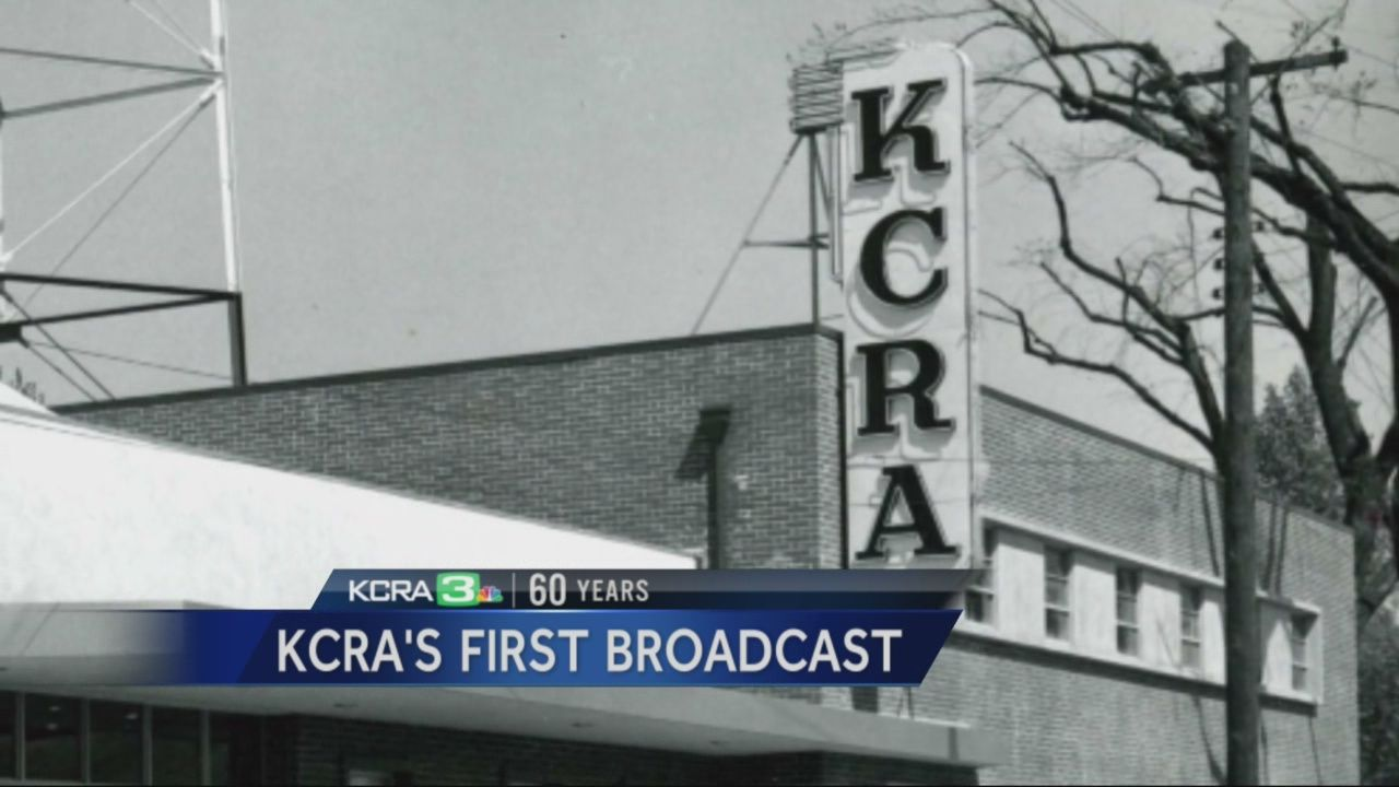 KCRA's first broadcast took place in 1955 at the