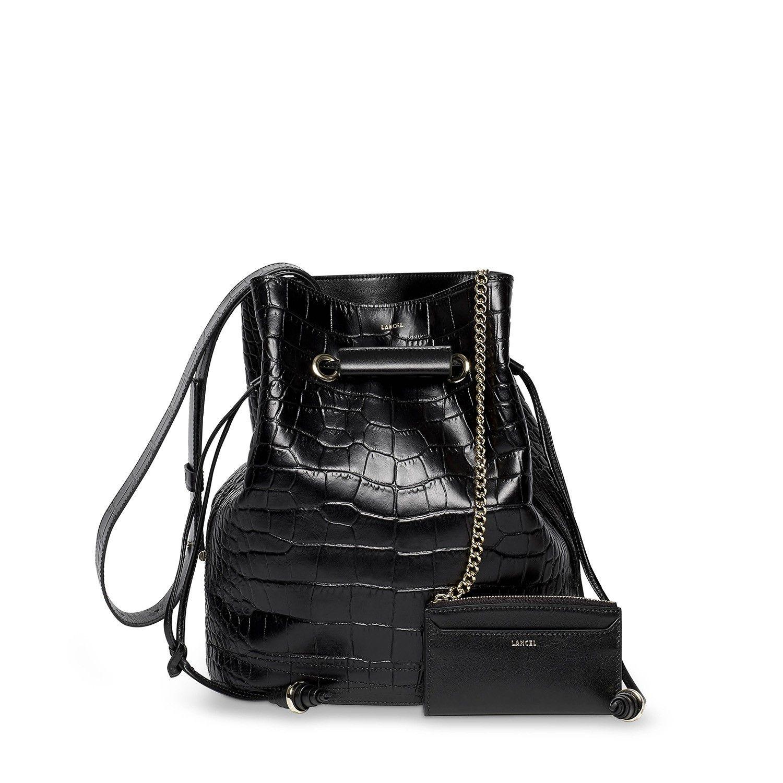 sac seau le huit de lancel noir femme lancel bags. Black Bedroom Furniture Sets. Home Design Ideas