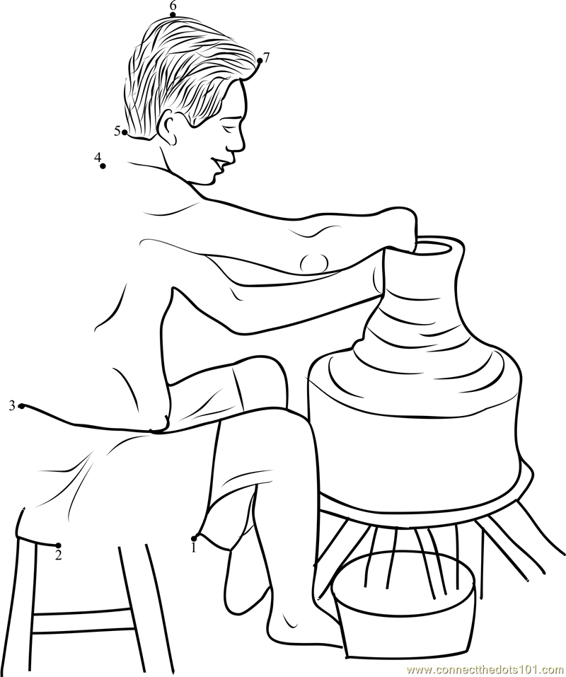 The potter and the clay coloring pages ~ Potter and Clay Coloring Page   Coloring pages, Sketches ...