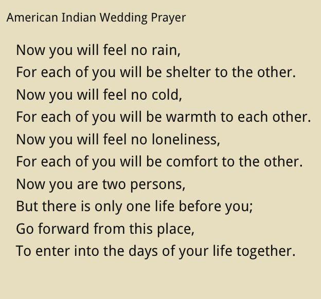 Cherokee Indian Wedding Vows