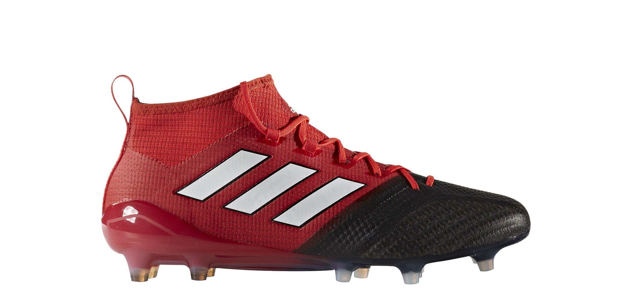 finest selection ff9d4 09409 Botas de fútbol adidas ACE 17.1 Primeknit FG - Rojo   Negro - exterior pie  derecho
