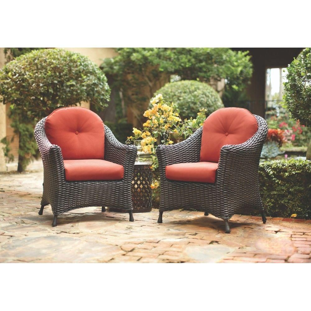 Martha Stewart Living Lake Adela Patio Charcoal Chat Chairs With