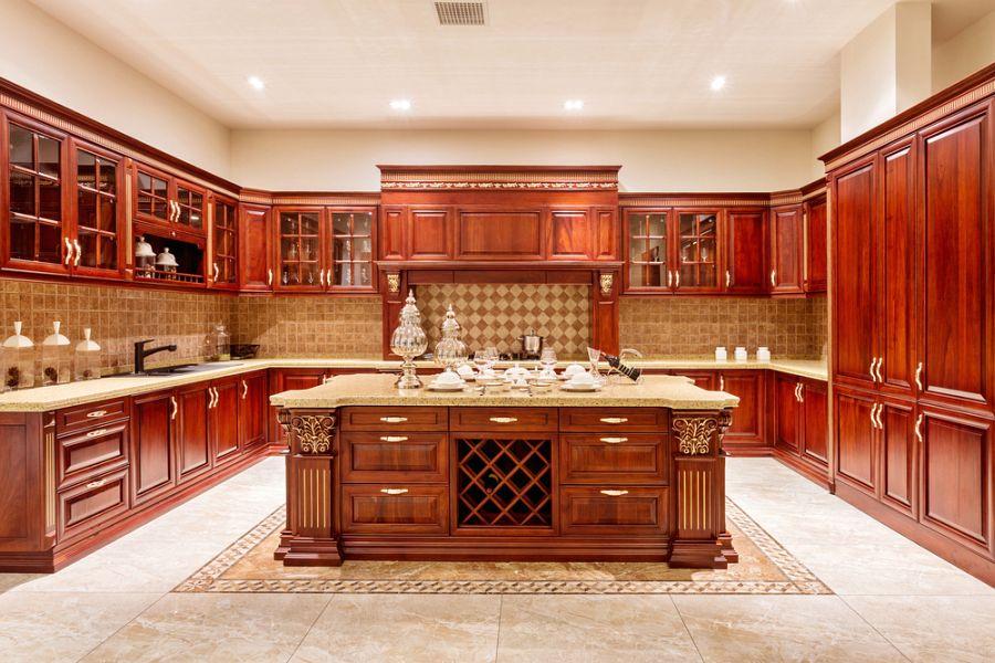Wooden kitchen cabinet price for kitchen design images ...