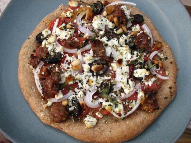 Basil Goat Cheese Pizza
