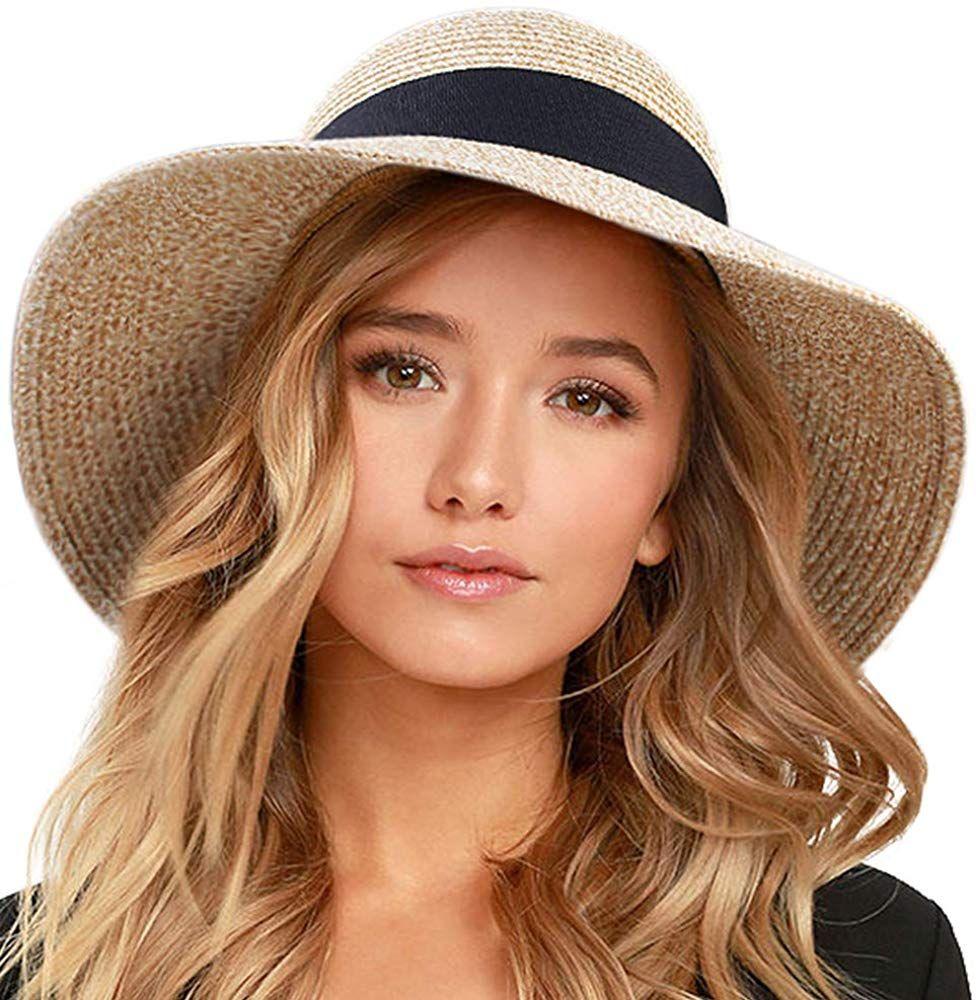 Furtalk Womens Beach Sun Straw Hat Uv Upf50 Travel Foldable Brim Summer Uv Hat At Amazon Women S Clothing Summer Hats For Women Sun Hats For Women Summer Hats