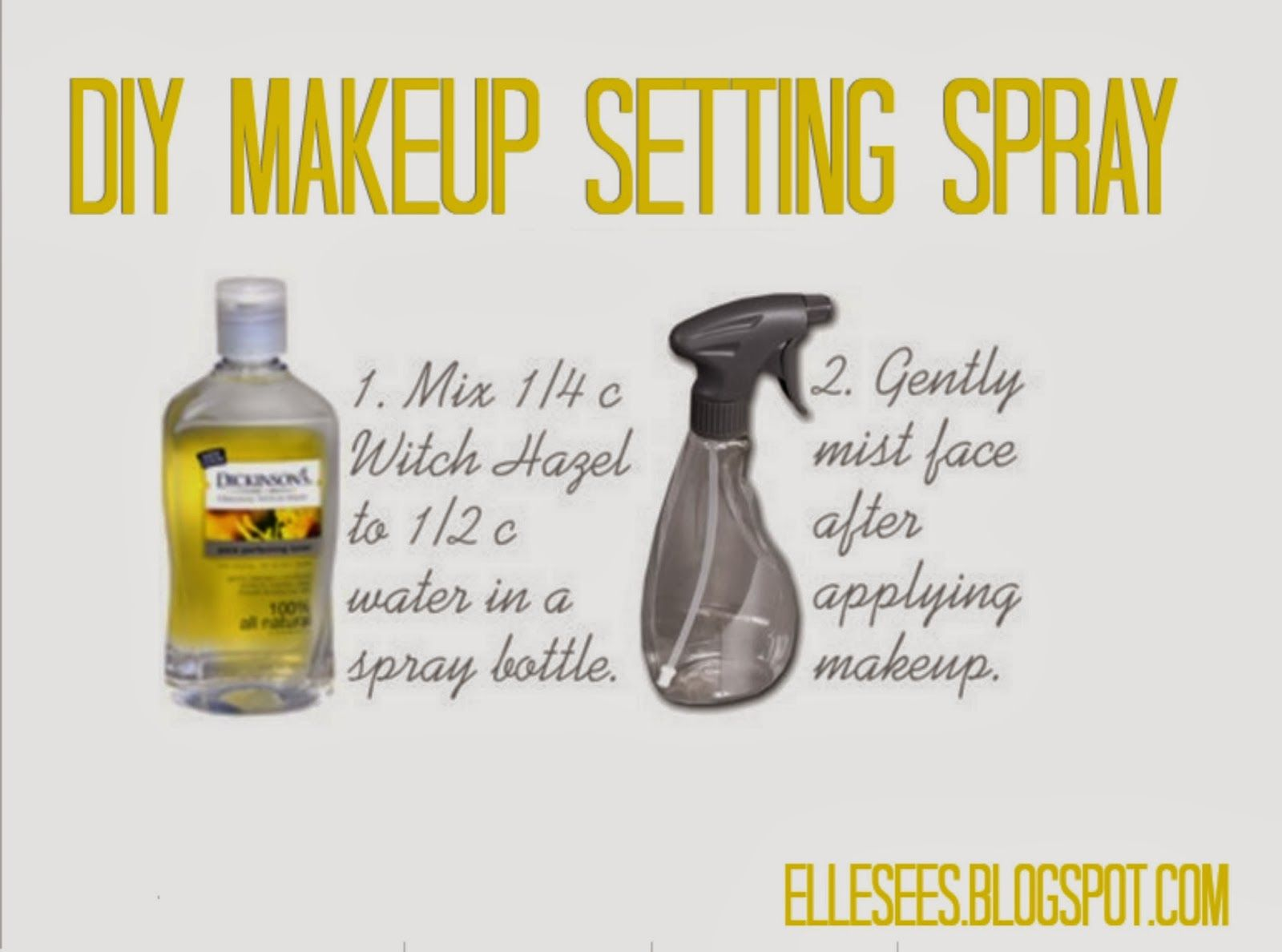 DIY Makeup Setting Spray | from the Elle Sees Blog | Diy ...