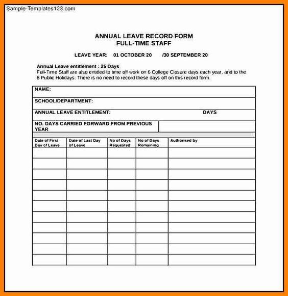 Vacation Time Request Form Template Employee Time off Request From