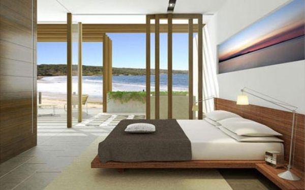 Minimalistisches Schlafzimmer-nach den Feng Shui-Prinzipien ...