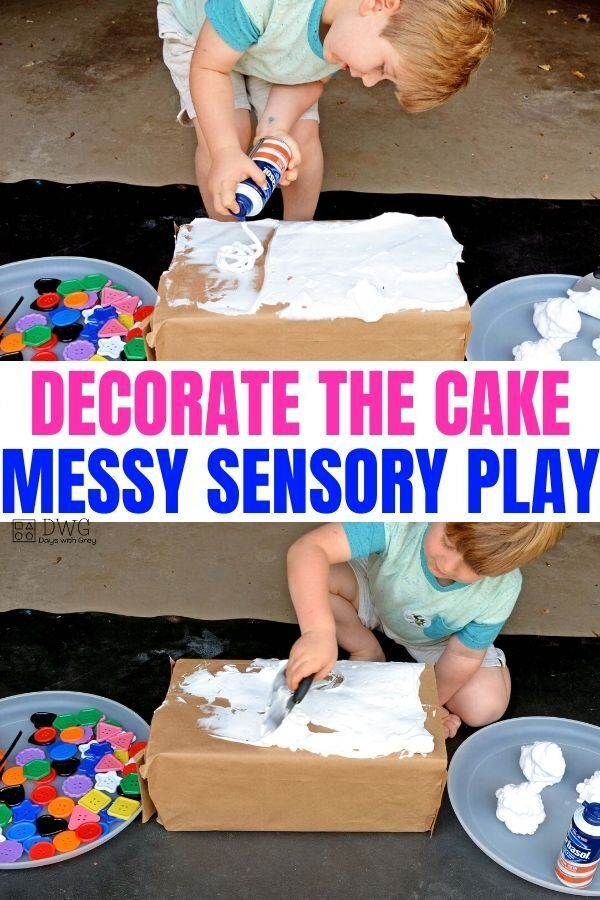 Shaving Cream Sensory Play to Decorate the Cake — Days With Grey