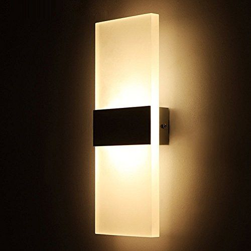 Geekercity Modern Acrylic 6w Led Bedroom Wall Lamps Fixture Onoff Decorative Lamps Night Light For Pathwa Wall Mounted Lamps Led Wall Lamp Wall Sconce Lighting