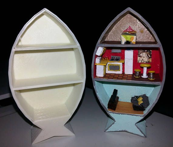 1:144 scale Fish Shaped Roombox | The o\'jays, Boxes and Fish
