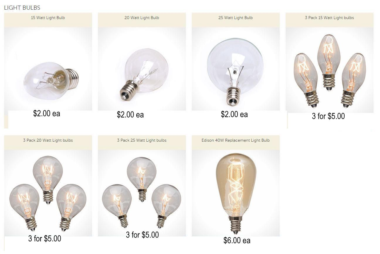 Scentsy Light Bulbs 15 Watt: Scentsy Light Bulbs come in 15w 20w 25w and the 40w edison bulb  www.jacquischlotterbeck,Lighting
