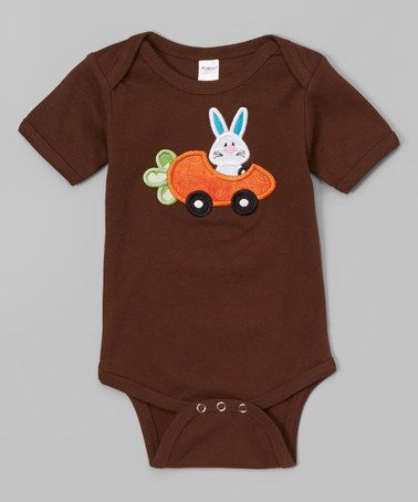 Love this Brown Bunny Car Bodysuit - Infant on #zulily! #zulilyfinds