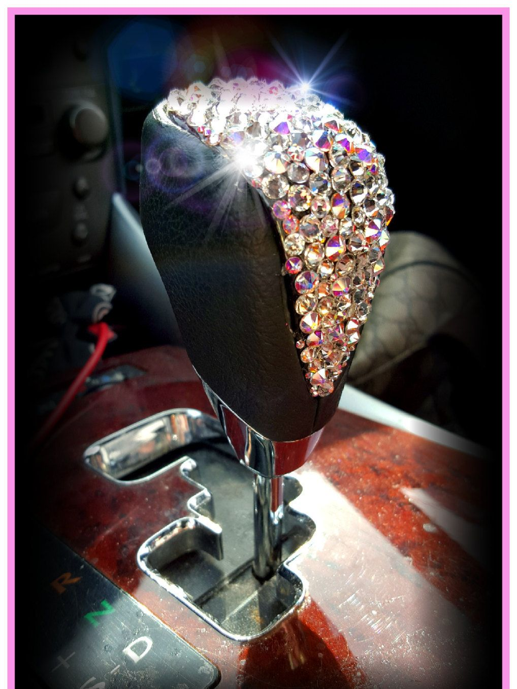 Rhinestone Car Bling Ring Emblem Decal Bling Interior Car - Custom car bling decals
