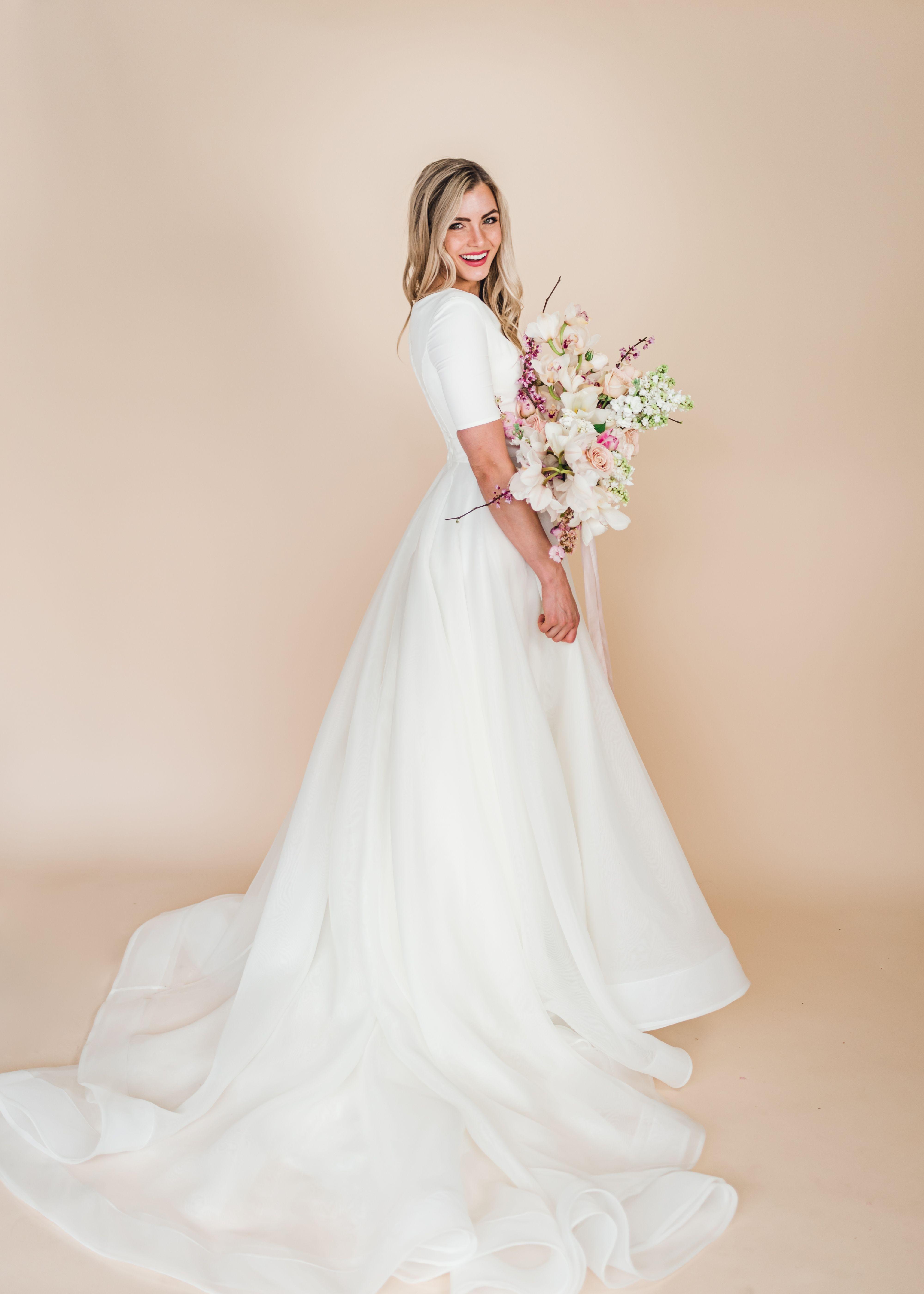 Margaret gown by Elizabeth Cooper Design modest wedding