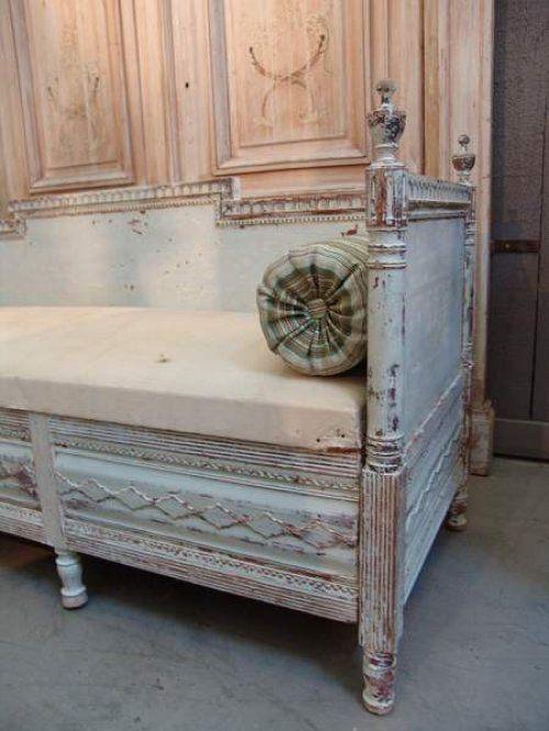 1840 Interior Design: 19th Century Swedish Sofa With Original Paint Finish C