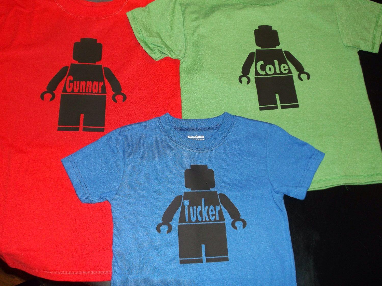 1 ONE Personalized Lego person t-shirt Kids sizes short sleeve Lego Movie Awesome Legoland by thewordyowl on Etsy https://www.etsy.com/listing/188214555/1-one-personalized-lego-person-t-shirt