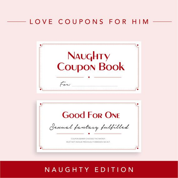 Naughty Edition   Love Coupons for Boyfriend, Valentine\u0027s day gift
