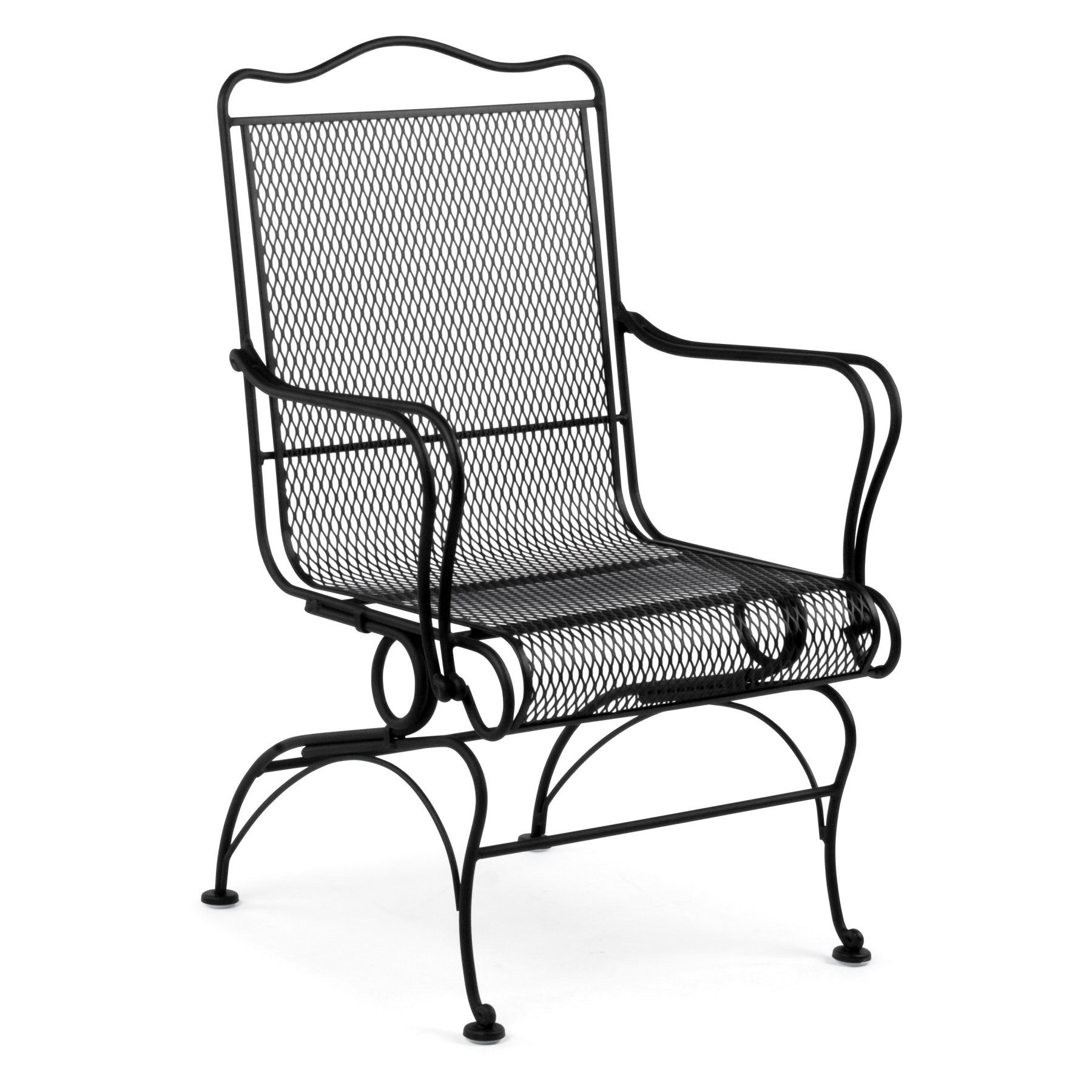 Outdoor Woodard Tucson High Back Coil Spring Dining Chair 1g0066