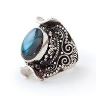 Nova Silver Ring • Labradorite