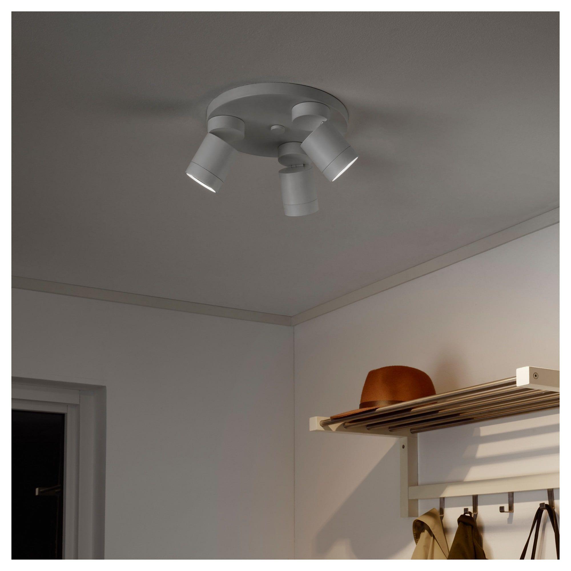 Ikea Nymane Ceiling Spotlight With 3 Lights White Ceiling Spotlights Ikea Ikea Lamp