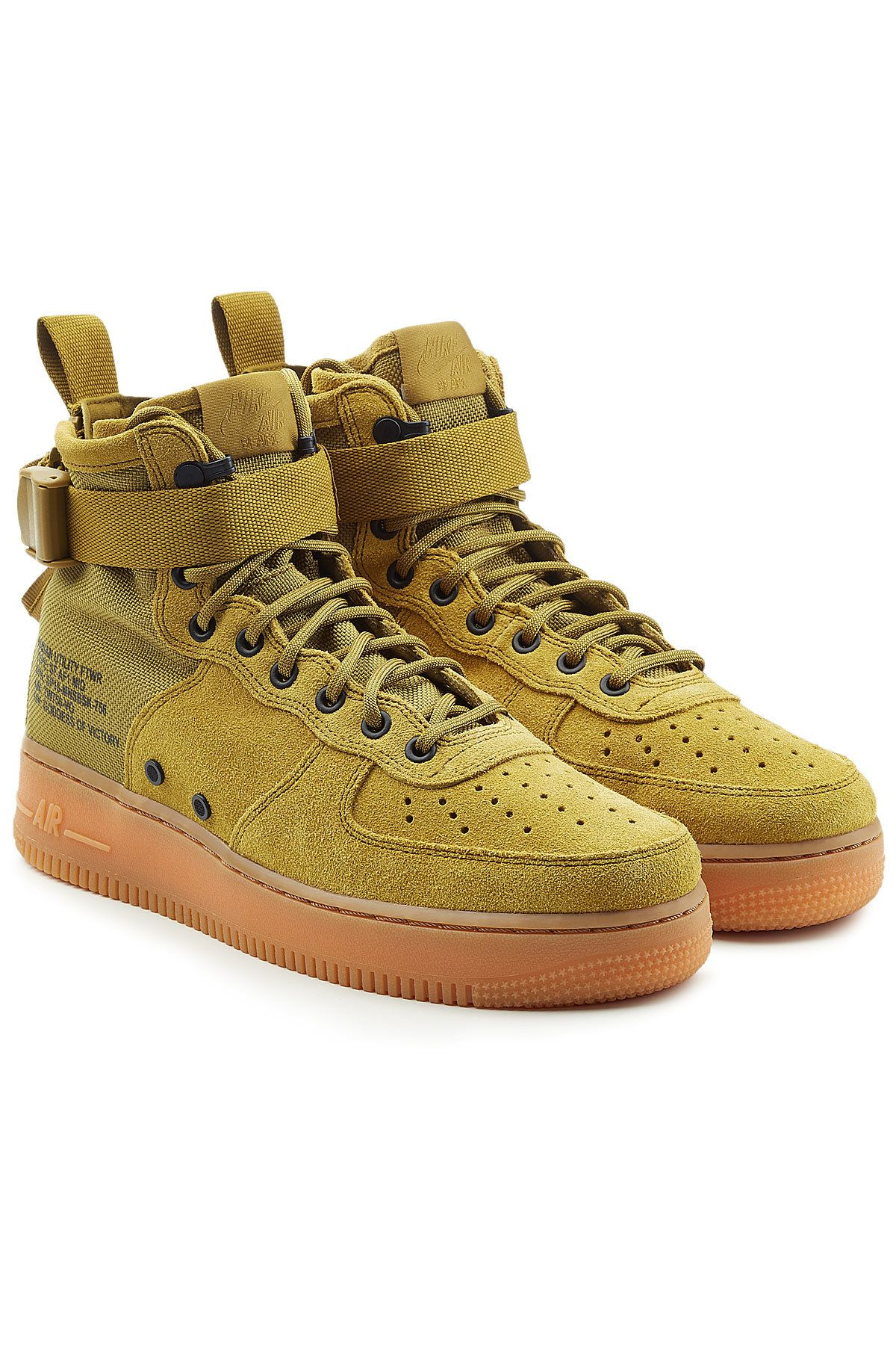 992266d6b14b NIKE SF AIR FORCE 1 HIGH TOP SNEAKERS WITH SUEDE AND MESH.  nike  shoes