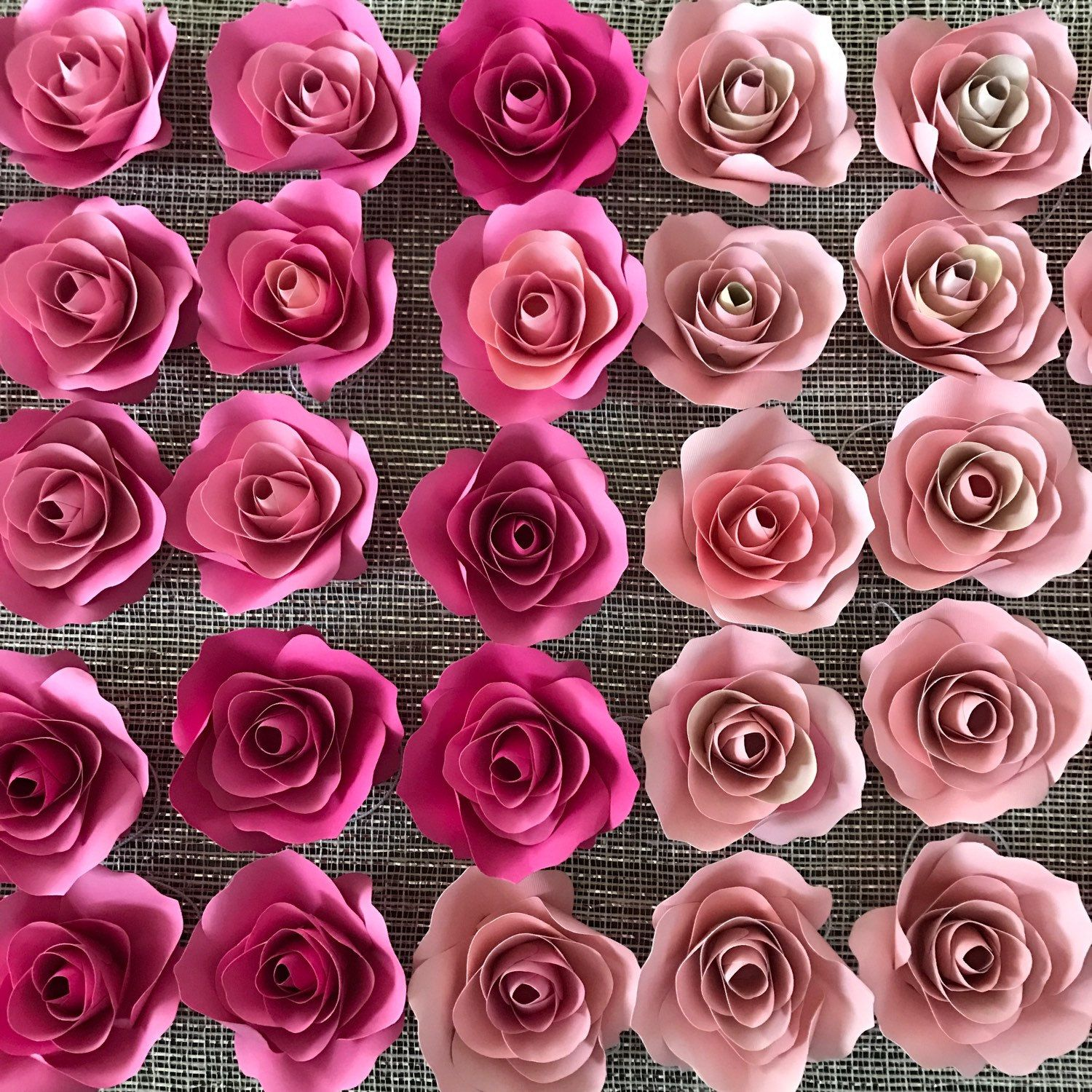Handmade Paper Flowers Paper Roses Floral Backdrop Baby Shower