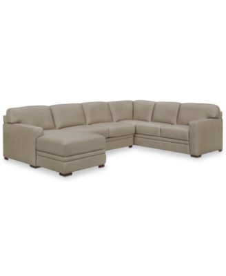Furniture Avenell 137 Leather Sectional Macy Furniture Furniture