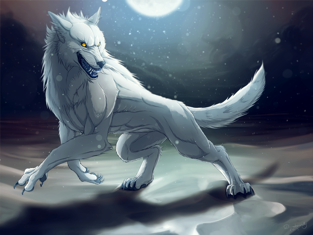 white werewolf Google Search Werewolf, Canine art