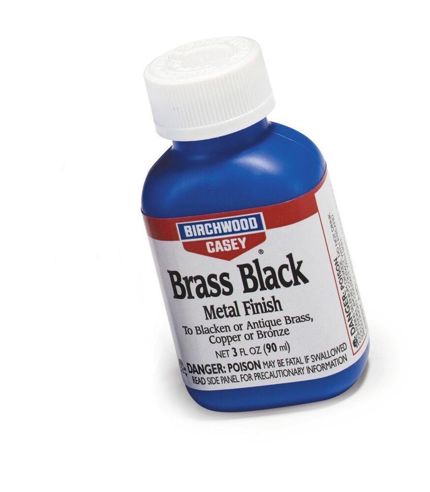 Birchwood Casey Brass Black Metal Finish 3 Ounce Birchwood