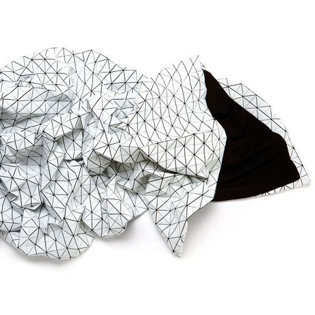 Folding A-Part Origami Throw By Mika Barr