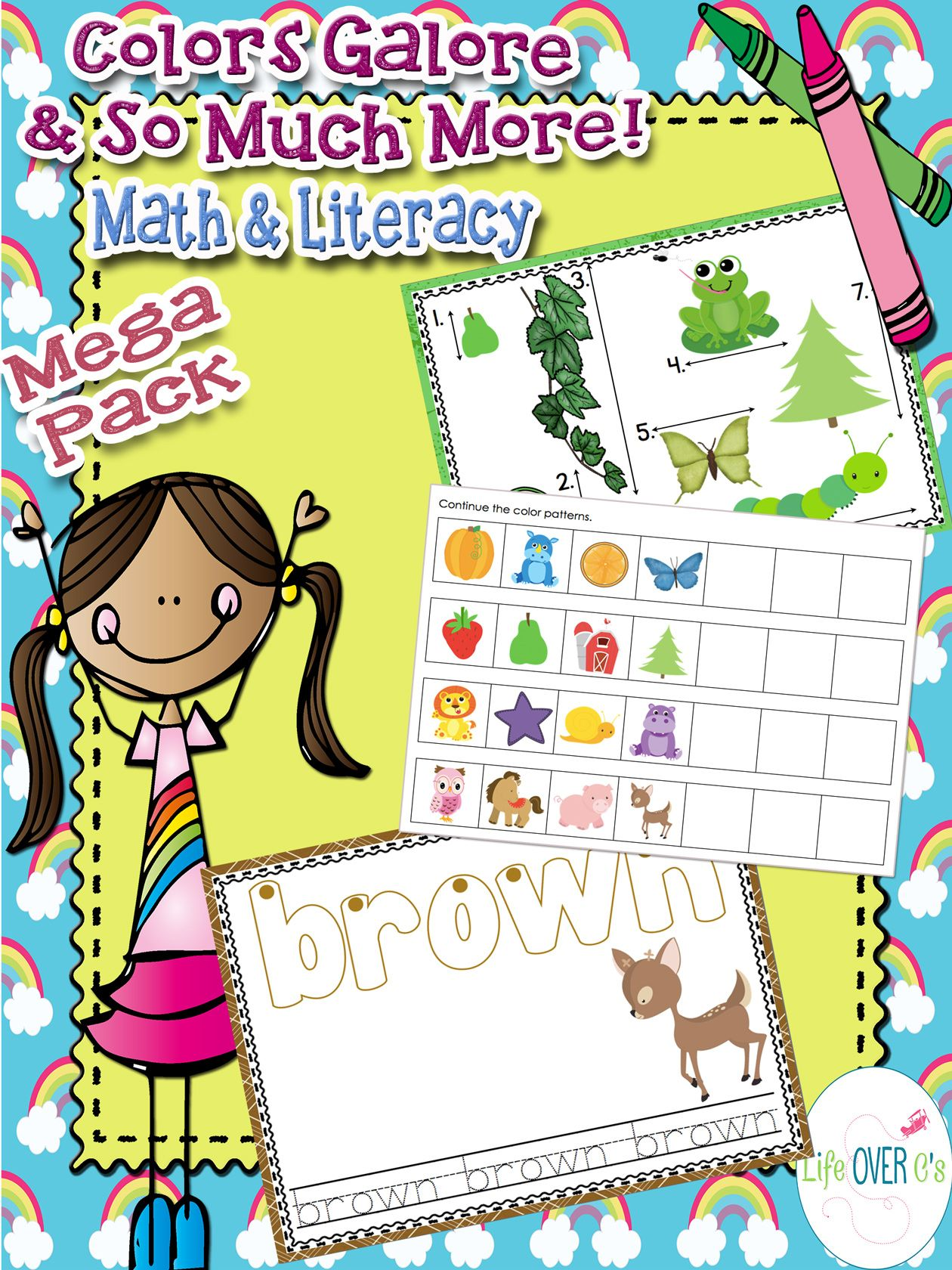 Color Recognition Math Amp Literacy Mega Pack For Colors And Color Words
