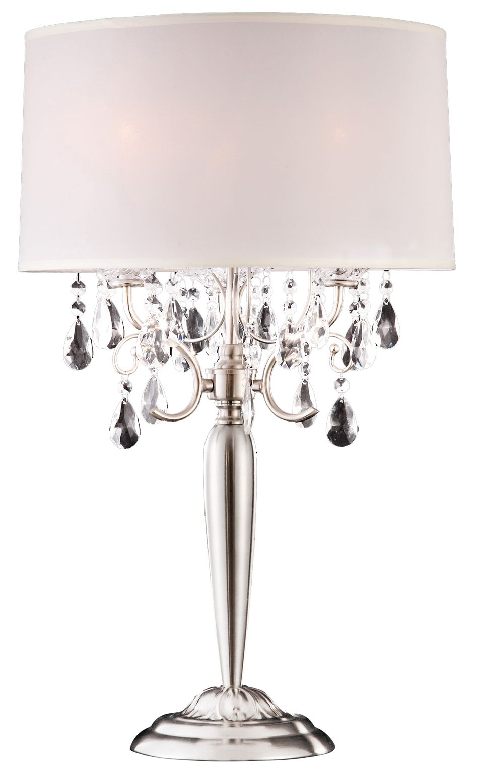 Moxie Real Crystal Table Lamp 16 Lx16 Wx30 H Table Lamp Lamp